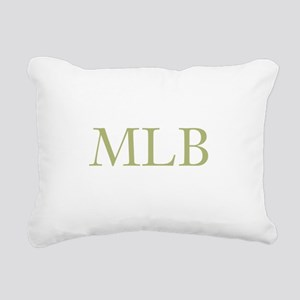 Gold Initials Rectangular Canvas Pillow